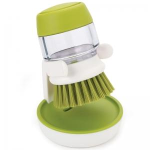 Щетка с дозатором моющего средства palm scrub™ зеленая