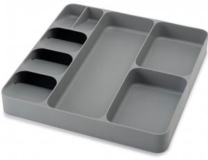Органайзер для столовых приборов и кухонной утвари Drawerstore серый