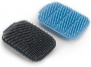 Набор из 2 щёток для мытья посуды Cleantech синий/серый