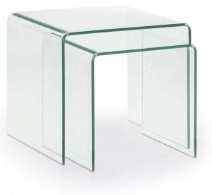 Стеклянные кофейные столики Burano 45X50X50 / 40X42X50 CM