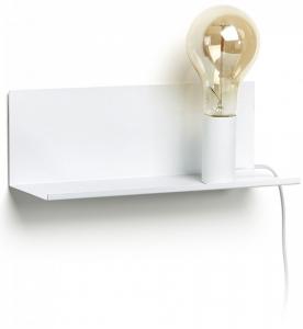 Настенная полочка с лампочкой Maeko 12X35X12 CM белая
