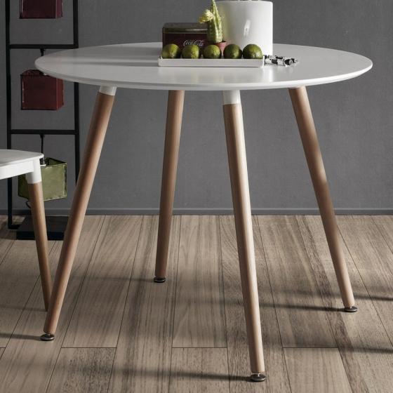 Круглый белый стол Wad 100X100X73 CM 5