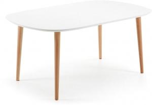 Стол овальный Oakland White 160-260X100X74 CM