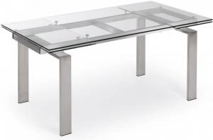 Раздвижной стеклянный стол Nara 160-240X85X75 CM