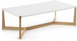 Кофейный столик на каркасе из ясеня Duplex 120X60X35 CM белый