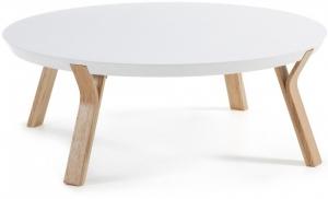 Кофейный столик на каркасе из ясеня Solid 90X90X32 CM белый