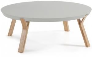 Кофейный столик на каркасе из ясеня Solid 90X90X32 CM серый