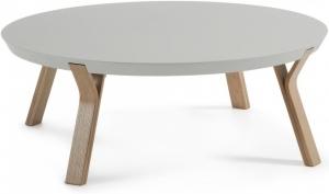 Кофейный столик на дубовом каркасе Solid 90X90X32 CM серый