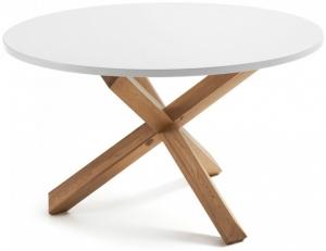 Стол с ножками из массива дуба Nori 120X120X75 CM