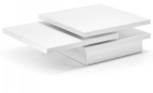 Журнальный столик Yuki 30X106-142X70-140 CM белый