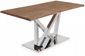 Стол Uve Antique 180X100X78 CM глянцевое основание дубовая столешница
