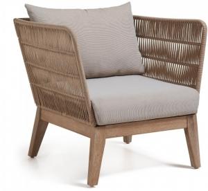 Кресло со структурой из массива акации Bellano 70X86X80 CM