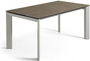 Раздвижной стол Atta 160-220X90X76 серые ножки коричневая керамическая столешница