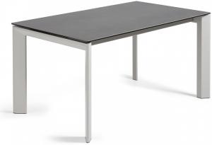Раздвижной стол Atta 160-220X90X76 серые ножки серая керамическая столешница