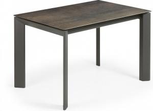 Раскладной стол Atta 120-180X80X76 CM с имитацией состаренного метала серый