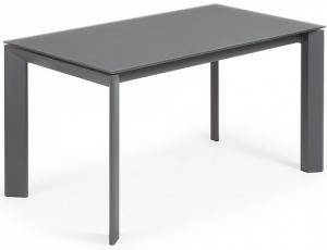 Раскладной стеклянный стол Atta 140-200X90X76 CM серый