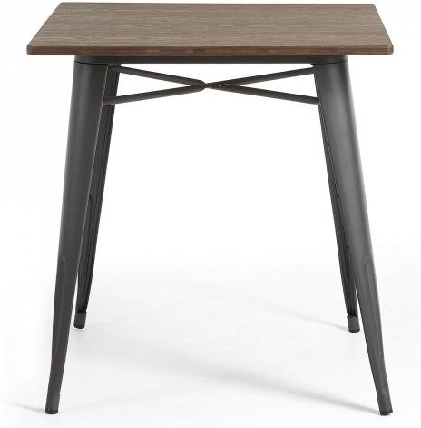 Стол Malibu 80X80X77 CM с черными ножками 2