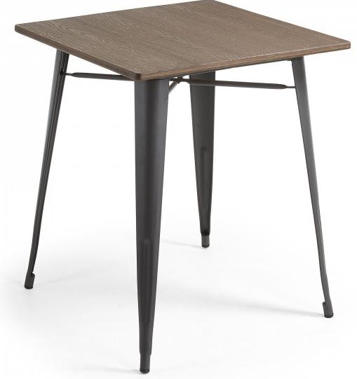 Стол Malibu 80X80X77 CM с черными ножками 1