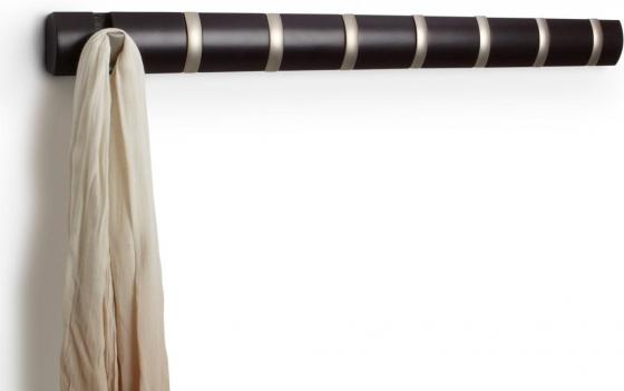 Вешалка настенная горизонтальная flip 8 крючков эспрессо 3
