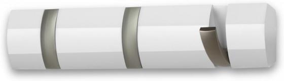 Вешалка настенная горизонтальная flip 3 крючка белая 1