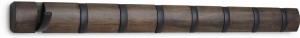 Вешалка настенная горизонтальная flip 8 крючков черная/орех