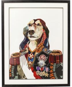 Коллаж в рамке General Dog 72X90 CM