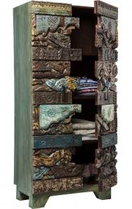 Шкаф в этническом стиле Shanti Surprise 85X45X180 CM