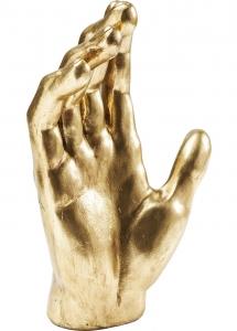 Декор в форме ладони Hand Mano Gold 23X12X35 CM