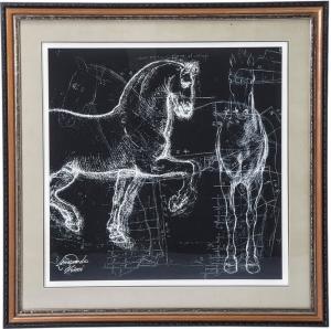 Постер в рамке Horse Studies 110X110 CM