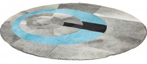Круглый кожаный ковёр Ø150 CM