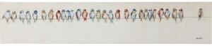 Картина Birds Meeting 150X30 CM