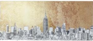 Постер на стекле Metallic NY View 120X50 CM