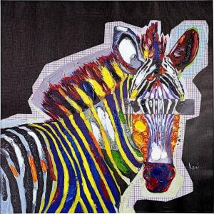 Картина Wildlife Zebra 80X80 CM