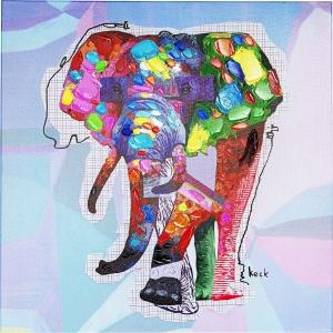 Картина Wildlife Elephant 80X80 CM