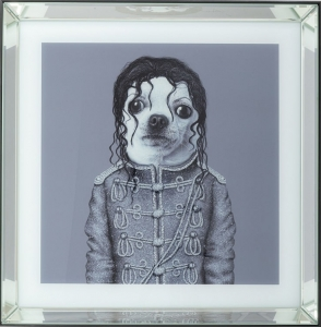 Постер в зеркальной раме Moonwalk Dog 60X60 CM