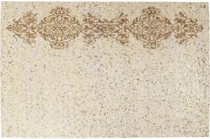 Кожаный ковёр Ornaments Beige 240X170 CM