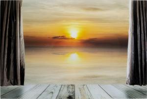 Постер на стеклянной основе View Sunset 120X80 CM