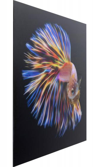 Постер на стекле Fish 100X100 CM 3