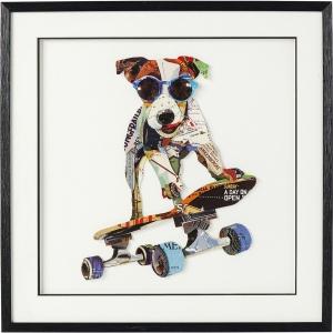 Коллаж в рамке Skater Dog 65X65 CM