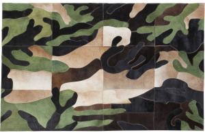 Ковёр из кожи Camouflage 240X170 CM