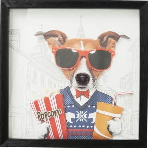 Коллаж в рамке Art Cinema Dog 50X50 CM