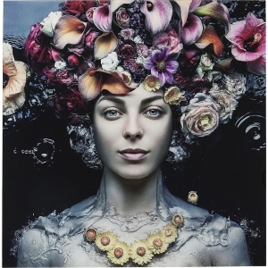 Постер на стекле Flower Art Lady 120X120 CM