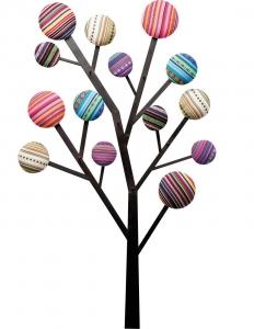 Настенная вешалка Bubble Tree 65X7X111 CM