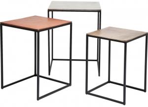 Столики Loft 41X41X52 / 39X39X49 / 37X37X46 CM