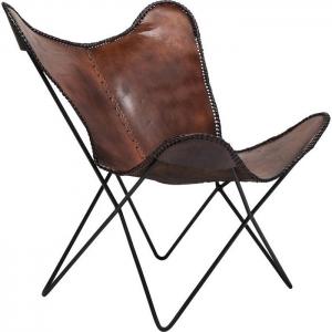 Кресло кожаное Butterfly 80X74X87 CM