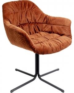 Стул вращающийся Colmar 66X64X79 CM оранжевого цвета