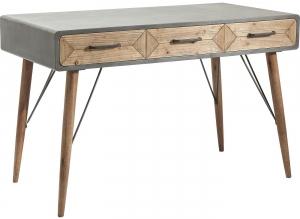 Стол письменный из бетона и дерева X Factory 120X60X76 CM