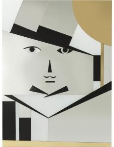 Зеркальное панно Monsieur Moustache 113X150 CM