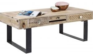 Столик кофейный из массива манго Puro 120X60X45 CM