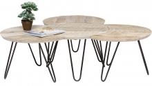 Сет столиков кофейных из манго Puro 40X40X40 / 40X35X40 / 40X35X40 / 40X35X40